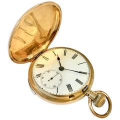 19th Century 18-Karat Gold Quarter Repeating Swiss Pocket Watch