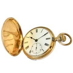 18 Karat Gold Quarter Repeating Swiss Pocket Watch