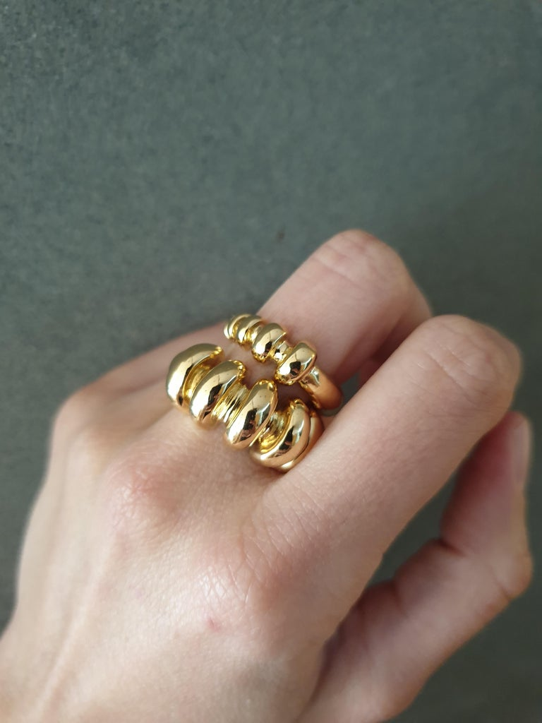 Handmade 18k gold ring. Can be made in any ring size.