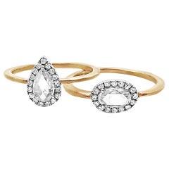 18 Karat Goldring mit .48 Karat Birnen Diamant