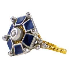 18 Karat Gold Ring with Diamonds