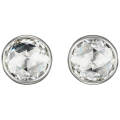 18 Karat Gold Rose Cut Diamond Studs