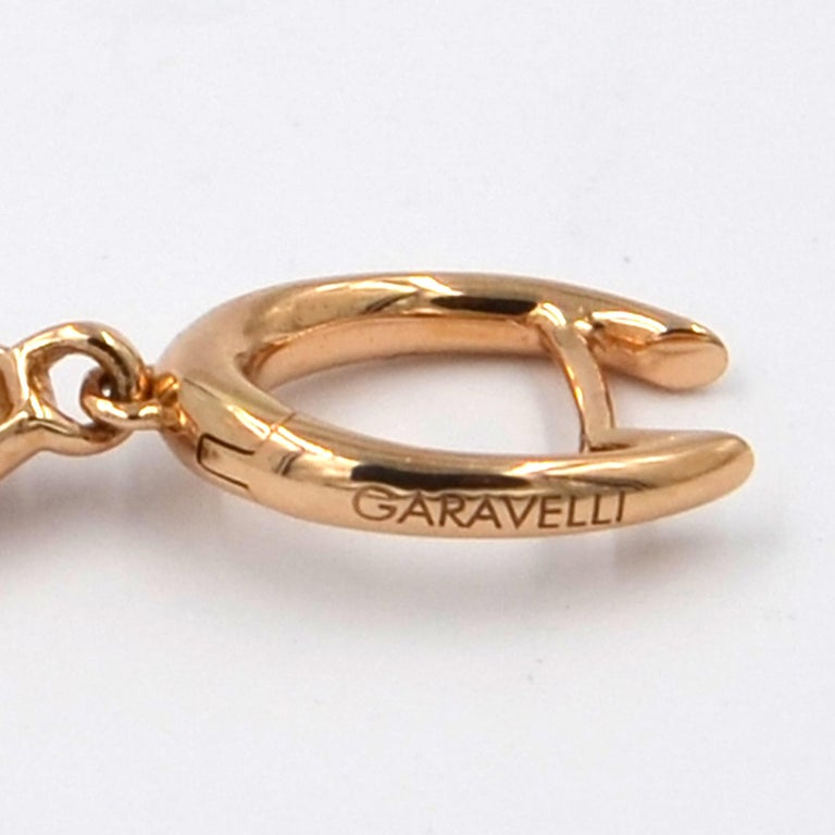 18 Karat Gold Rubies and Brown Diamonds Garavelli Matte Earrings Pendant Set For Sale 2