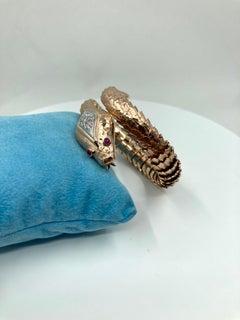 18 Karat Gold Rubies and Diamonds Italian Bracelet