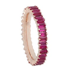 Ruby Baguette 18 Karat Gold Ring