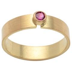 18 Karat Gold Ruby Ring by Kyla Katz