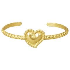 18 Karat Gold Sacred Heart Cuff