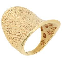 18 Karat Gold Saddle Shape Cocktail Ring