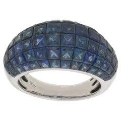 18 Karat Gold Sapphire Bombe Ring