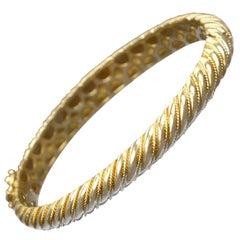 18 Karat Gold Torsade Bracelet