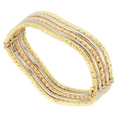 18 Karat Gold Tricolor Bangle