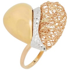 18 Karat Gold Tricolor Ring