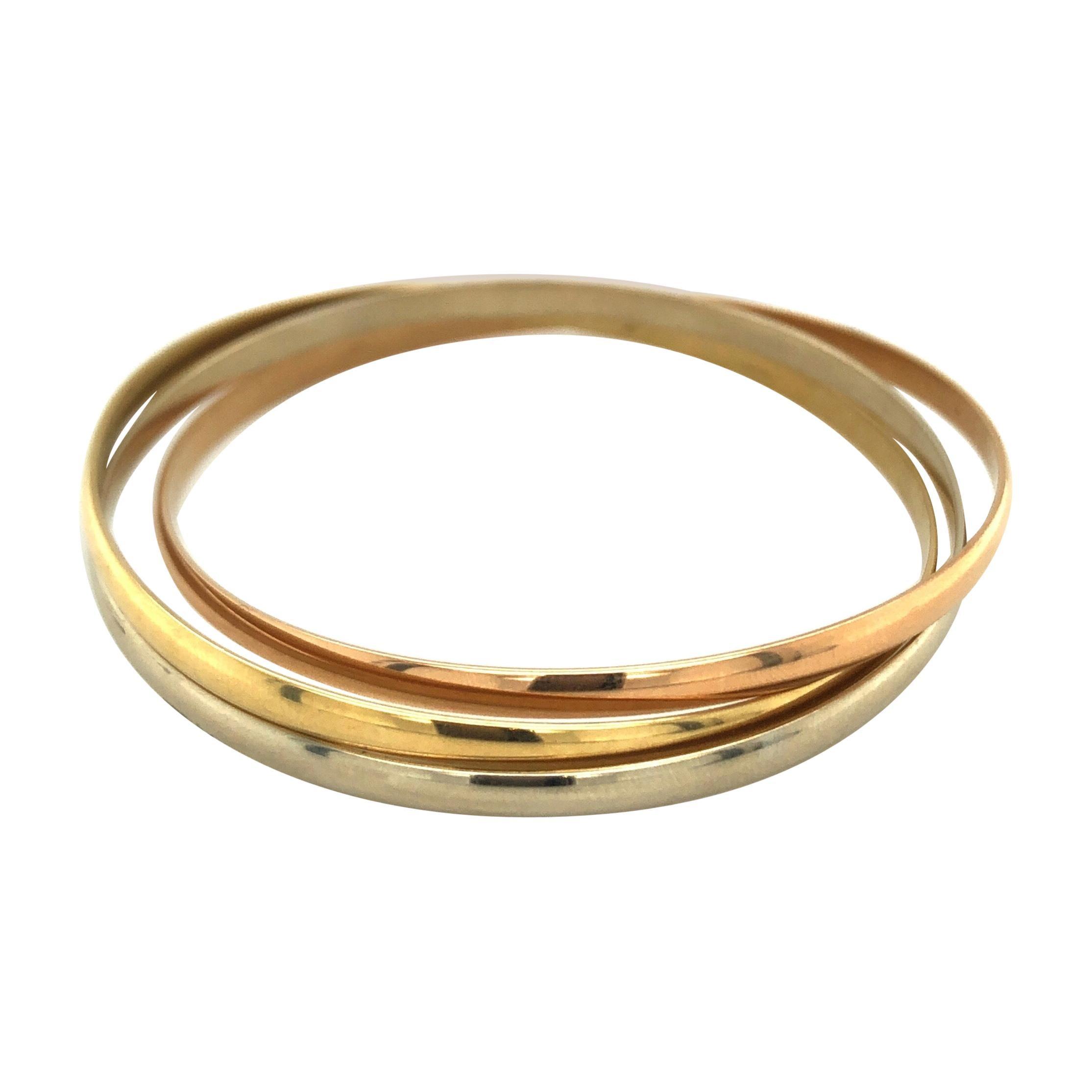 18 Karat Gold Trinity Bangle by Cartier
