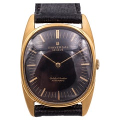 18 Karat Gold Universal Genève Golden Shadow Automatic Wristwatch, 1950s