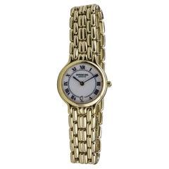 18 Karat Gold Vermeil Raymond Weil Ladies Wristwatch