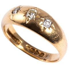 18 Karat Gold Victorian Diamond Ring