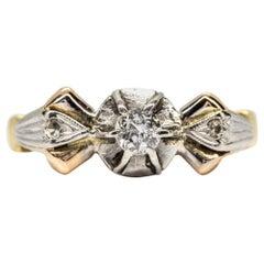 18 Karat Gold Victorian Diamonds Ring