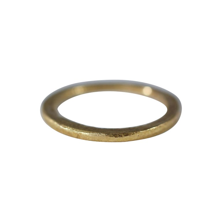 18 Karat Gold Wedding Unisex Band Ring for Men or Women Design by AB Jewelry NYC For Sale