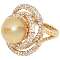 18 Karat Gold with South Sea Pearl Ring