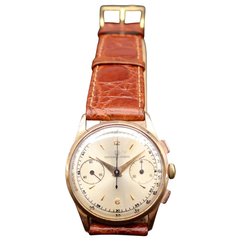 18 Karat Gold Wristwatch Universal Genève