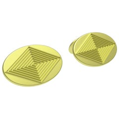 18 Karat Green Gold Cufflinks