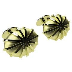 18 Karat Green Gold Cufflinks