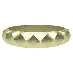 18 Karat Green Rhombus Mens Wedding Ring
