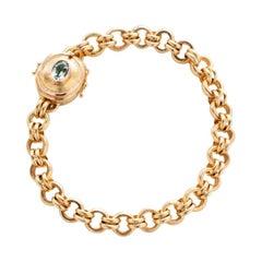 18 Karat Handmade Link Chain Bracelet