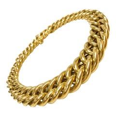 18 Karat Italian Cuban Link Graduate Bracelet