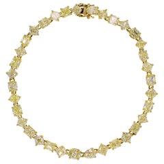 18 Karat Jewels Fancy Yellow Diamond Bracelet