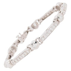 18 Karat Kwiat Diamond Tennis Bracelet White Gold 3.39 Carat