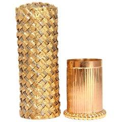 18 Karat Ladies 3D Weave Gold Lipstick Case
