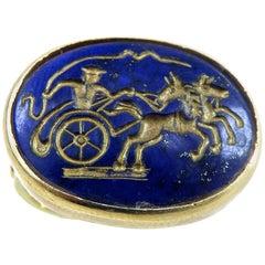 18 Karat Lapis Lazuli Ring