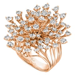 18 Karat Luminus Pink Gold Ring with Diamonds