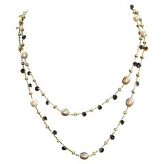 18 Karat Marco Bicego Paradise Pearl Necklace