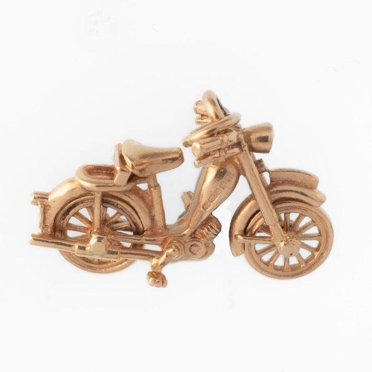 Vintage 18 Karat Motorbike Charm c.1920s