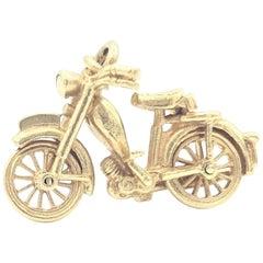18 Karat Motorbike Charm