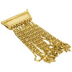 18 Karat Multi Strand Chain Bracelet