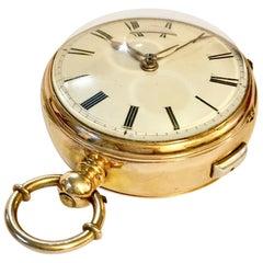 19th Century 18-Karat Gold Musical Swiss Pocket Watch