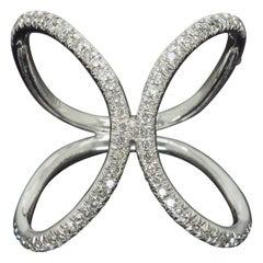 18 Karat Negative Space Diamond Ring