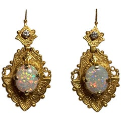 18 Karat Opal Earrings