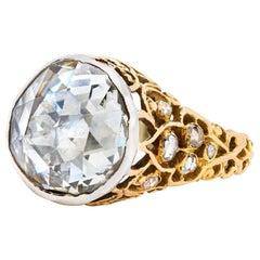 18 Karat Original Victorian Rose Cut Diamond Ring