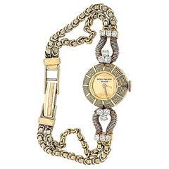 18 Karat Patek Philippe Diamond Watch Yellow Gold
