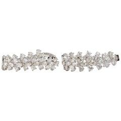 18 Karat Pearshape Diamond Hoops 14.25 Carat
