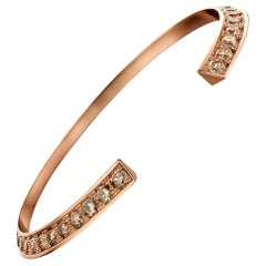 18 Karat Pink Gold and Brown Diamond Flow Bracelet