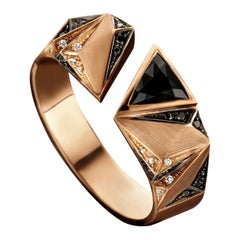 18 Karat Pink Gold, Black and White Diamond and Onyx Carioca Ring