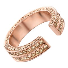 18 Karat Pink Gold Brown Diamonds Brute Ring