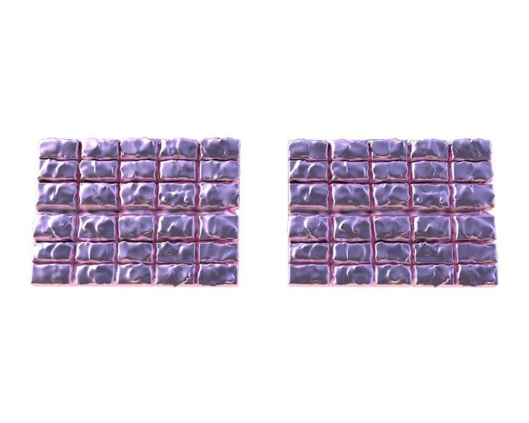 Contemporary 18 Karat Pink Gold Cufflinks For Sale