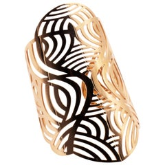 18 Karat Pink Gold Decorative Handmade Tribal Schullin Arm-Cuff