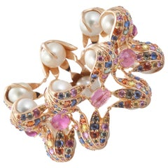 18 Karat Pink Gold Gloucester Cathedral Bracelet with South Sea Pearls